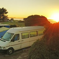 Motorhome at Kaikoura Pekata Beach Holiday Park